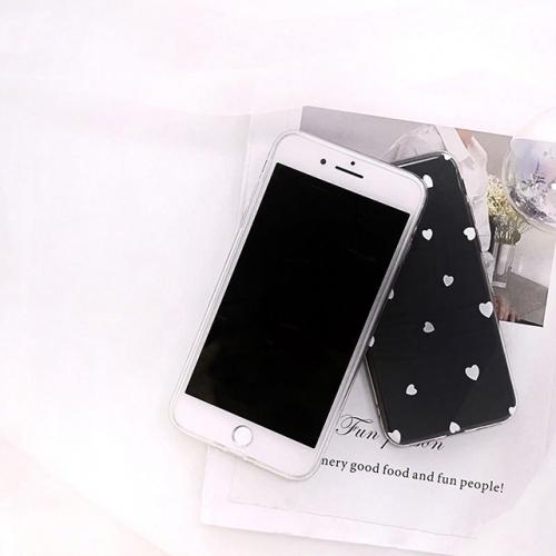 당일♥아이폰 하트 투명 젤리 케이스