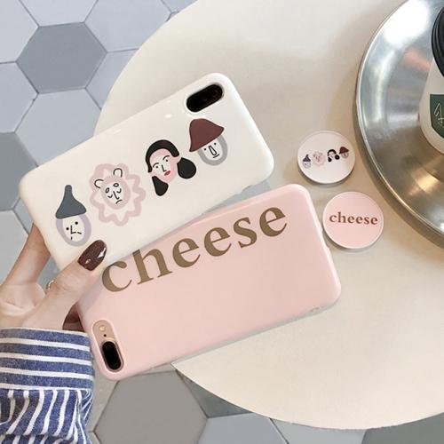 아이폰 감성 치즈패밀리 써클그립 케이스