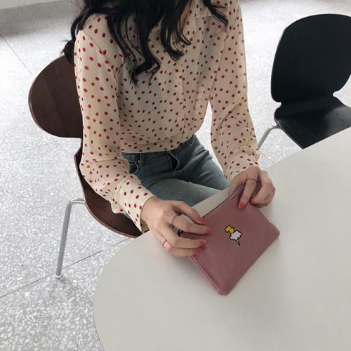 봄신상♥포인트 자수 미니 파우치